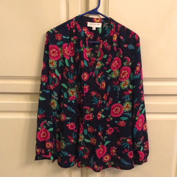 Jones New York colorful tunic top Size L-XL